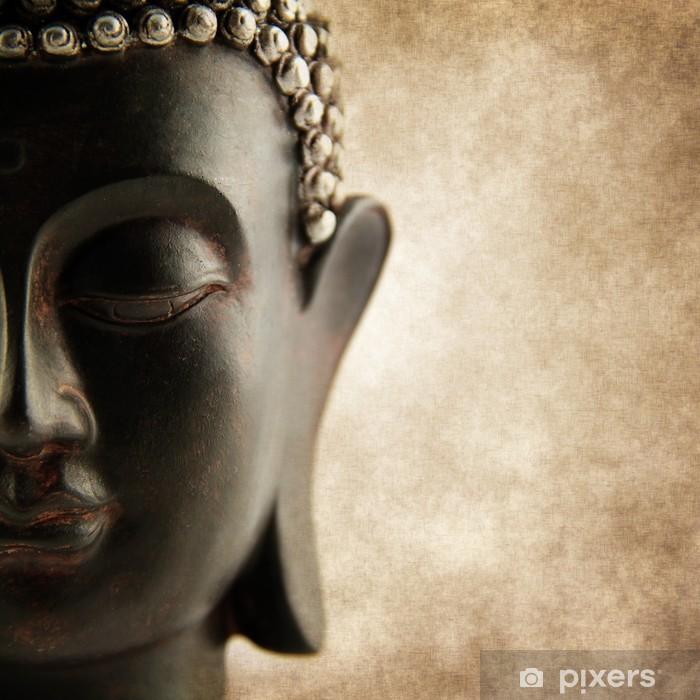 Buddha grunge style Pixerstick Sticker - Styles