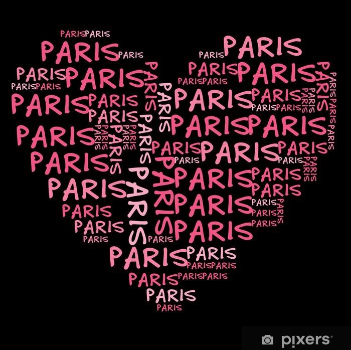 Plakat Ich liebe Paris   Kocham Paryż - Znaki i symbole
