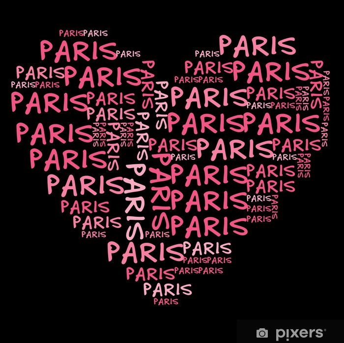 Póster Ich liebe París   amo París - Señales y símbolos
