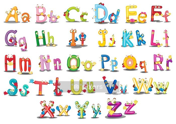 Alphabet characters Wall Decal - Themes