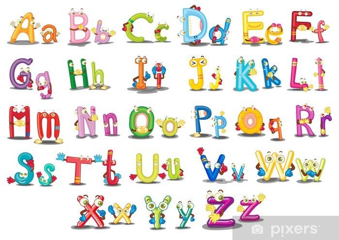 Alphabet characters Pixerstick Sticker - Themes
