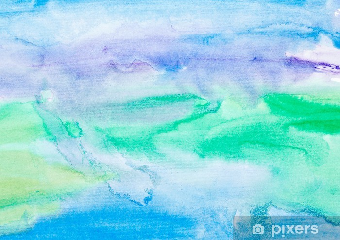 Farve streger akvarel maleri kunst Vaskbare fototapet - Teksturer