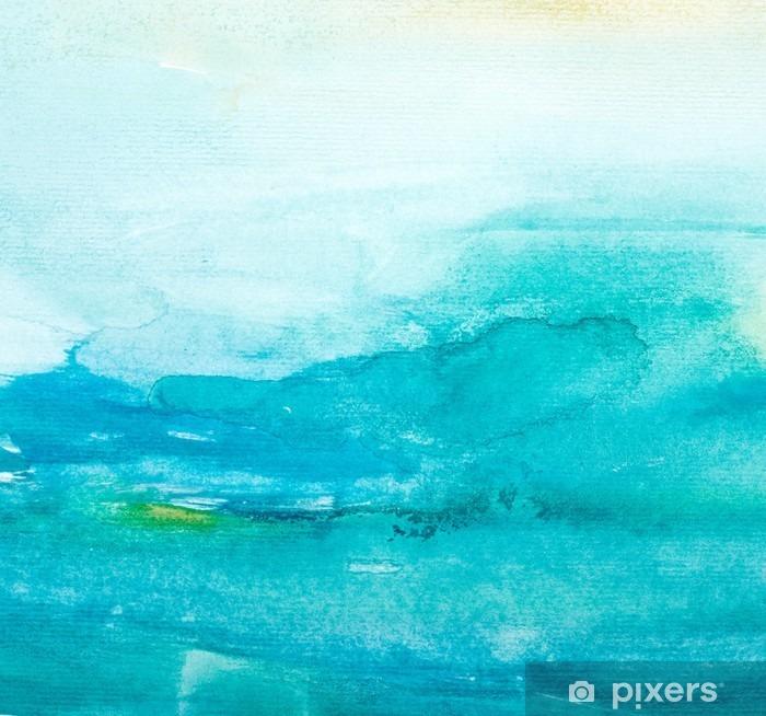 Pixerstick-klistremerke Fargestrømmer akvarell maleri kunst -