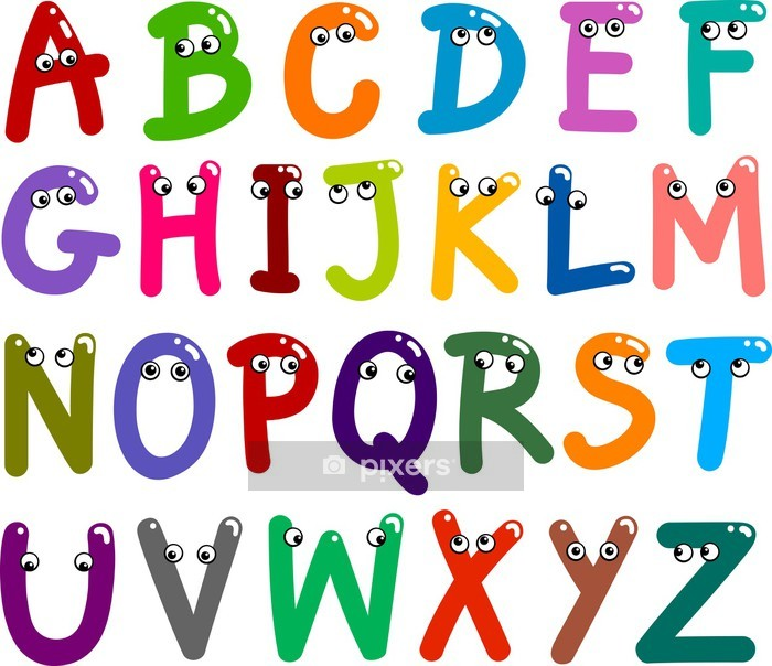 Funny Capital Letters Alphabet Wall Decal - Themes