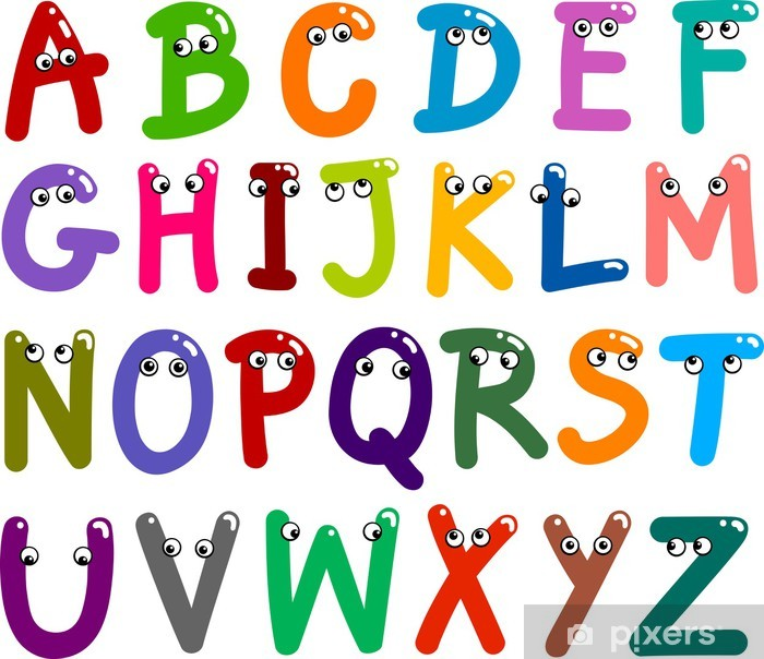 Funny Capital Letters Alphabet Vinyl Wall Mural - Themes
