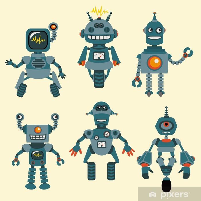 Fototapeta winylowa Cute little Kolekcja Robots - w wektorze - zestaw 1 - Dla chłopców