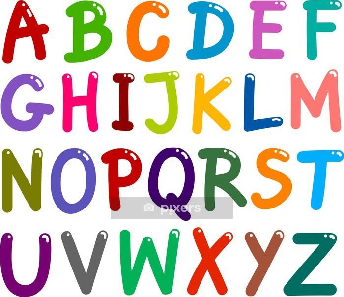 Muursticker Kleurrijke hoofdstad Letters - Thema's