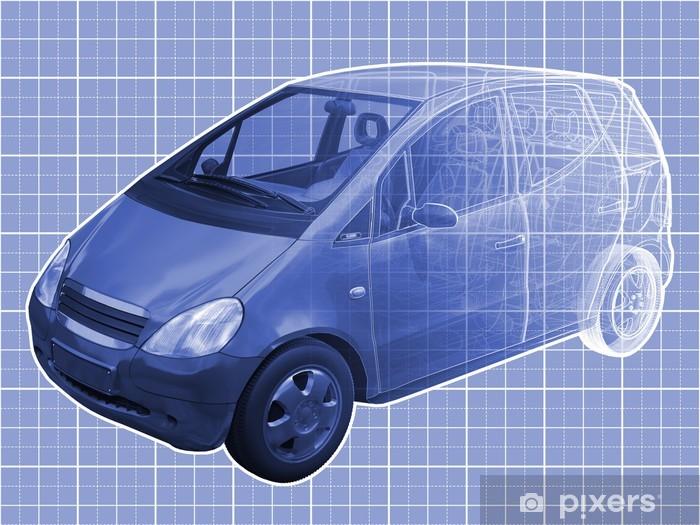 Papier Peint Illustration Vue En Perspective D Une Benz Classe A