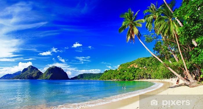 Papier peint lavable Panoramique paysage magnifique plage - El-Nido, Palawan - Thèmes