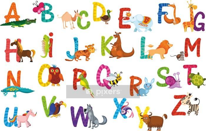 animals alphabet Wall Decal - Themes