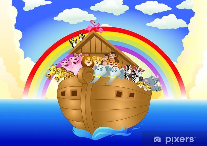 Sticker Pixerstick Arche de Noé - Pour enfant 5 ans