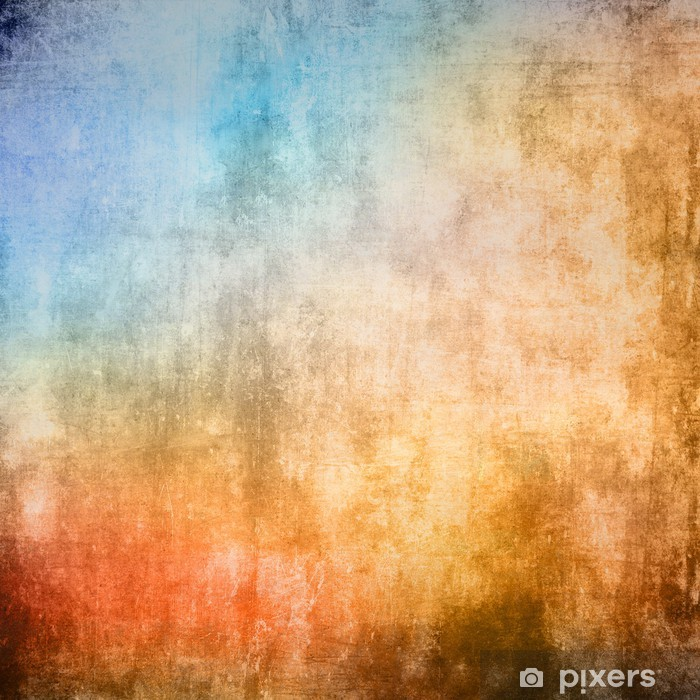 8d3d0194 Fototapet av vinyl Grunge fargestruktur, blå og brun farge - Bakgrunner