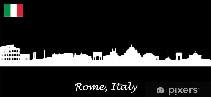 Papier peint vinyle Skyline Rome - Italie - Villes européennes