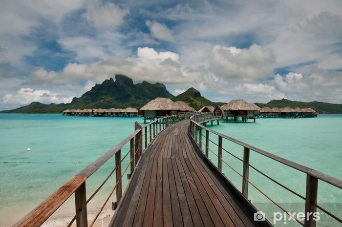 Fototapeta winylowa Overwater bungalowy w niesamowitym lagunie - Wakacje