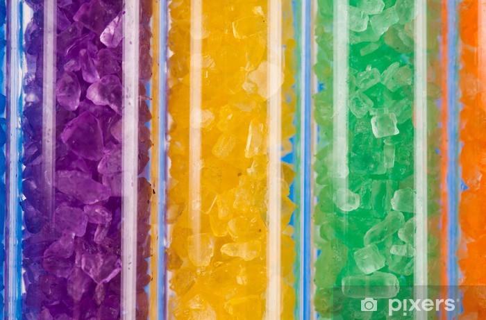 Aufkleber Bunte Salzkristallen Im Labor Reagenzgläser Pixerstick