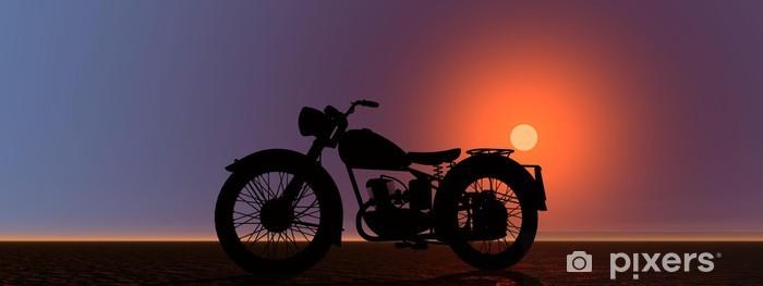 Vinyl-Fototapete Motorrad - Straßenverkehr