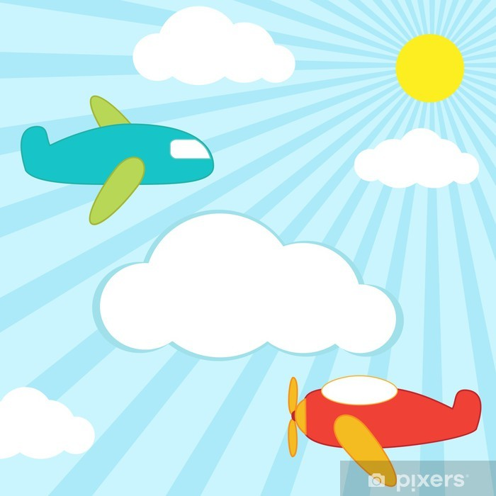 Plakat Background samoloty - Dla przedszkolaka
