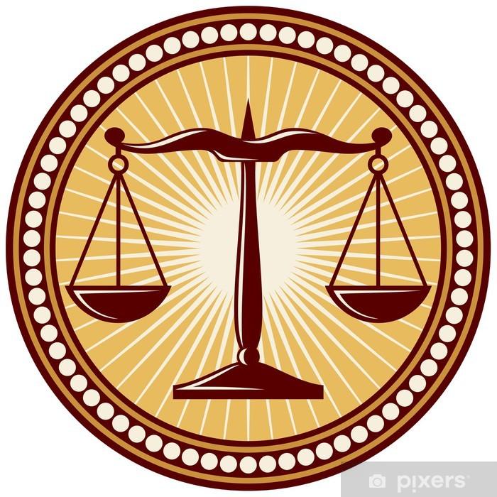 Plakat Symbol sprawiedliwości skale - Tła