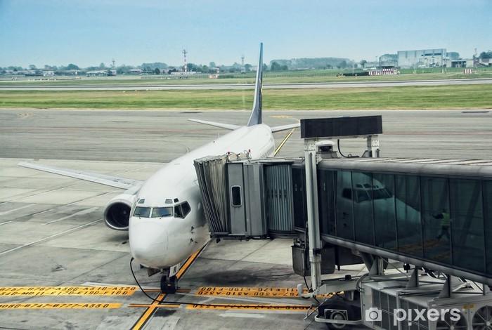 Fototapeta winylowa Cywilny statek powietrzny w Turynie, Włochy - Transport powietrzny