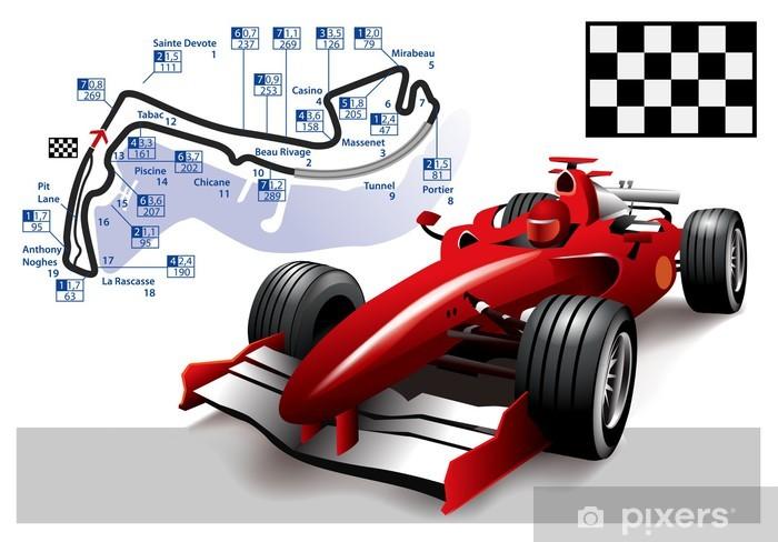 Poster Monaco Formula 1 Grand Prix Pixerstick Sticker - Themes