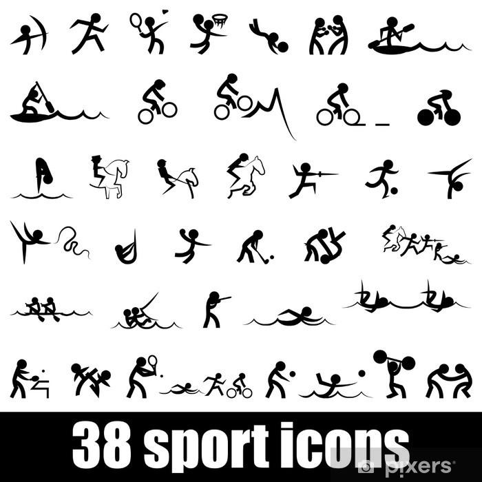 Klesskapklistremerke Sport ikoner - Tegn og Symboler