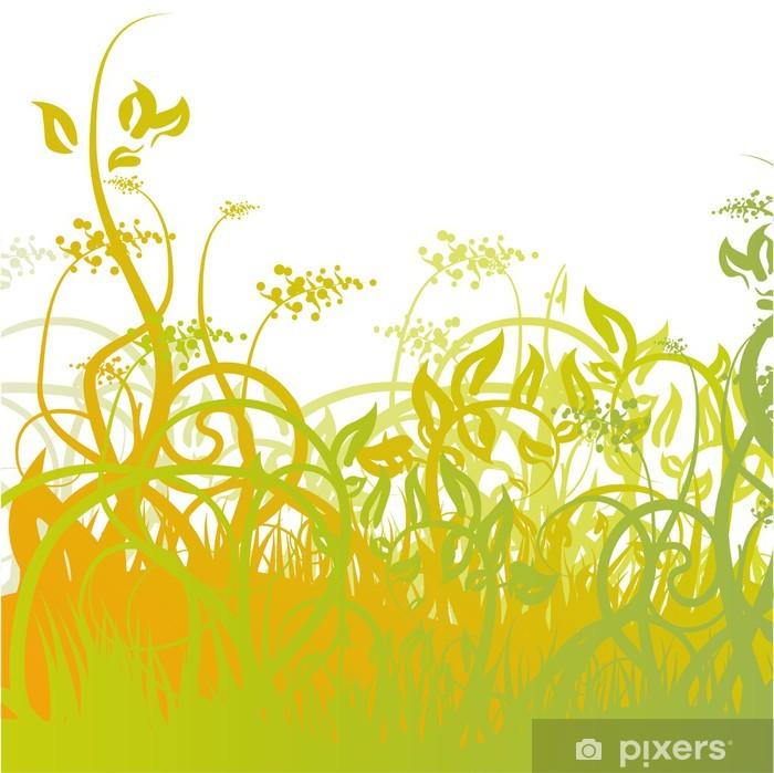Naklejka Pixerstick Trawa-02 - Rośliny