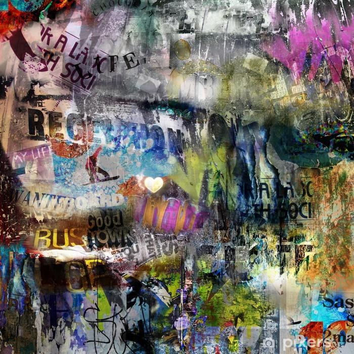 Carta da Parati in Vinile Grungy stile strappato sfondo poster -