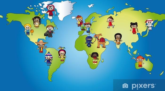 Vinyl Fotobehang Wereld kinderen - Vakantie
