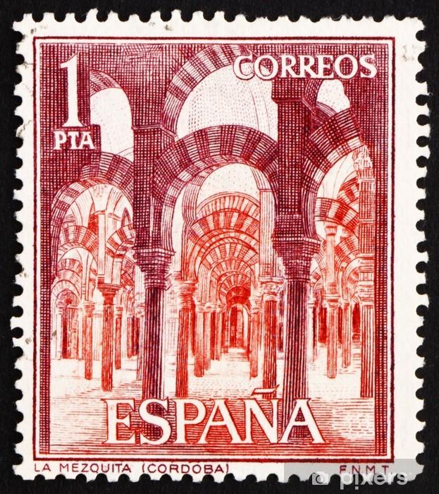 Postage Stamp Spain 1964 Interior Of La Mezquita Cordoba Pixerstick Sticker