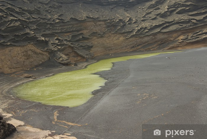 Naklejka Pixerstick Wnętrze wulkan z al Mar - Życie