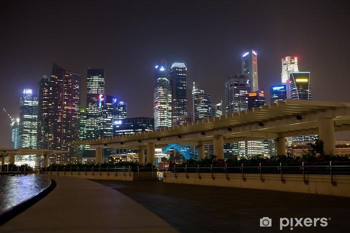 Sticker Pixerstick Marina Bay, à Singapour la nuit - Thèmes