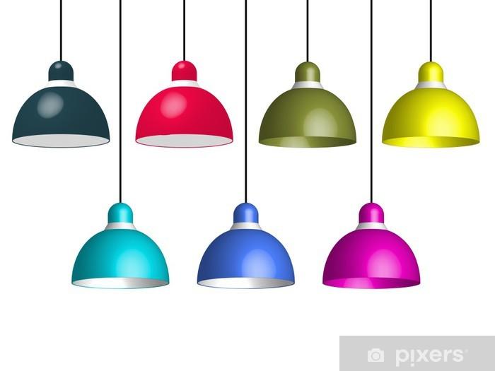 Nálepka Pixerstick Závěsné lampy - Elektronika