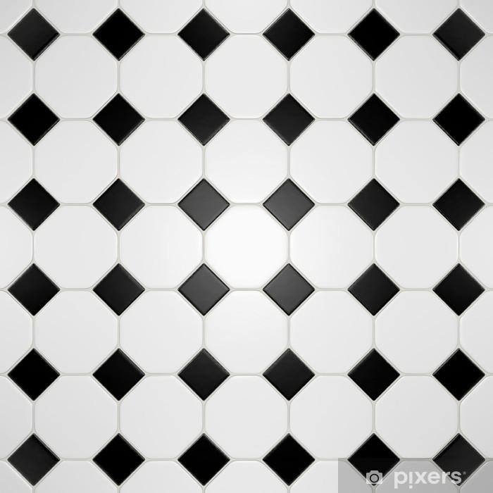 Carrelage Noir Et Blanc Sticker Pixers We Live To Change