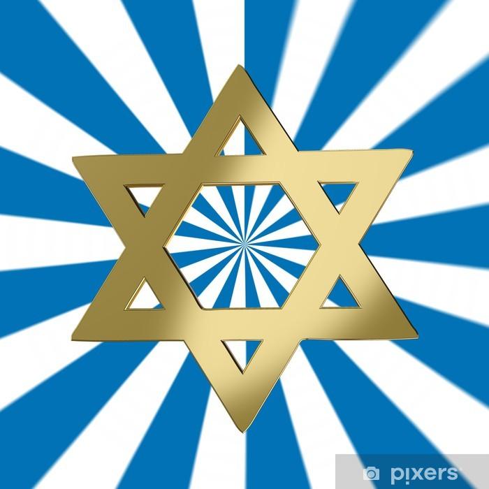 Poster Étoile de David avec une étoile de fond - Religion