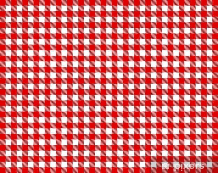 papier peint nappe à carreaux - rouge et blanc • pixers® - nous