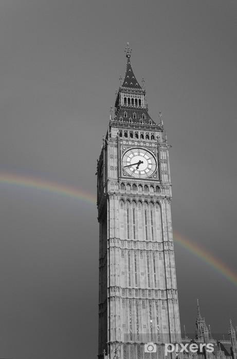 Fototapeta winylowa Big Ben z Rainbow - Tematy