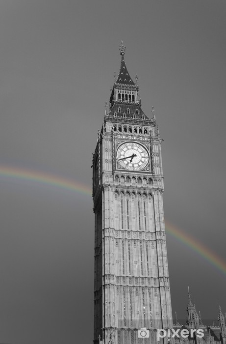 Naklejka Pixerstick Big Ben z Rainbow - Tematy