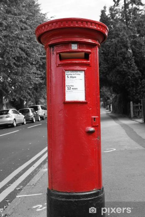 Papier peint vinyle Boîte aux lettres rouge - Villes européennes