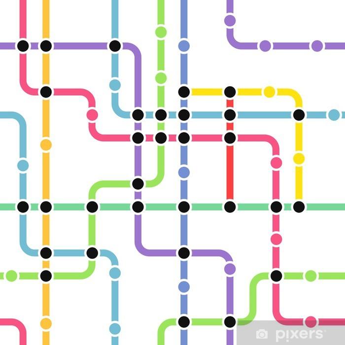 Fototapeta winylowa Streszczenie kolorystyka metro bezszwowe tło - Tła