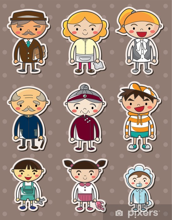 family stickers Pixerstick Sticker - Criteo