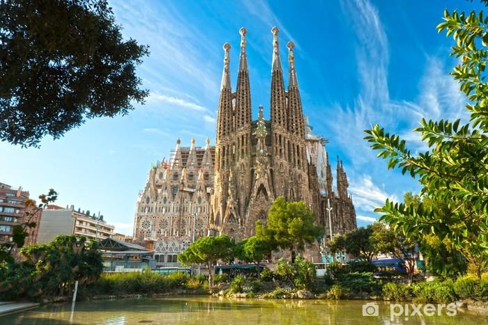Vinyl Fotobehang De Sagrada Familie, Barcelona, Spanje. - Thema's