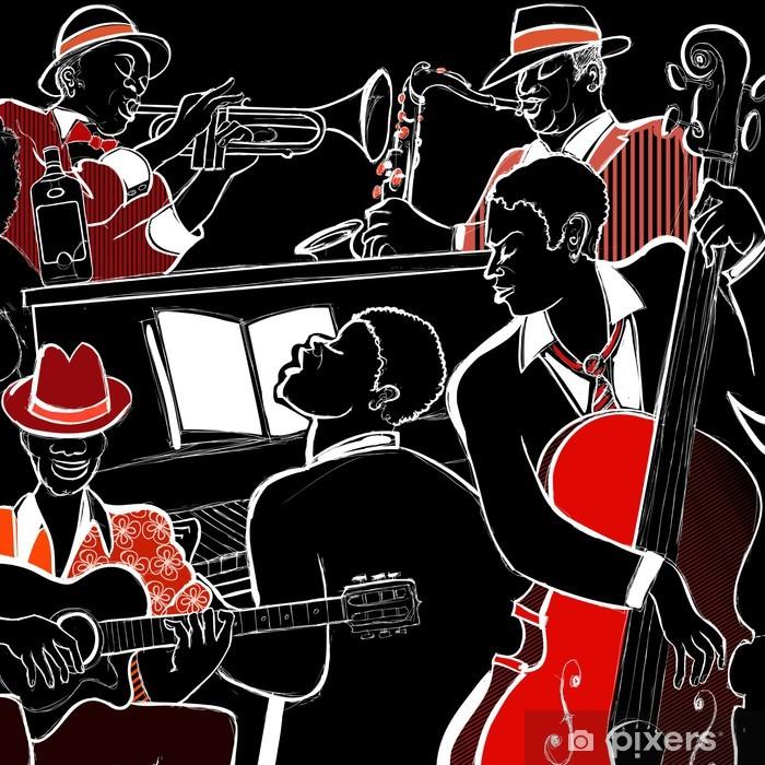 Sticker Pixerstick Groupe de jazz - Jazz