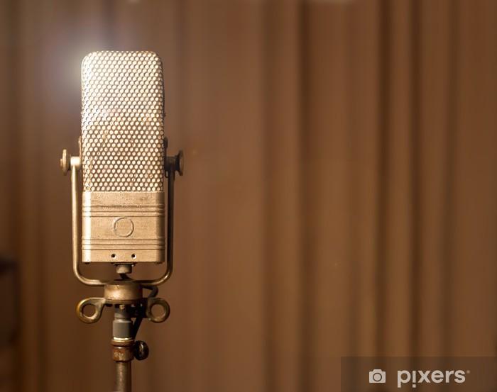 Vinilo Pixerstick Mikrofon retro vendimia - Señales y símbolos