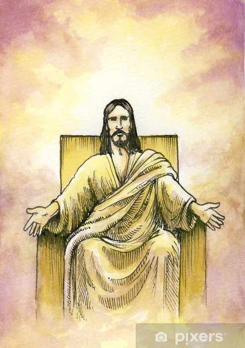 God seated with open arms Vinyl Wall Mural - Themes