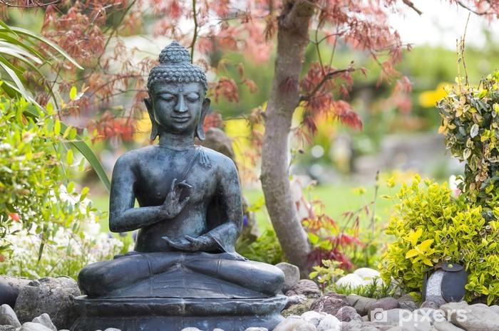 Buddha Figur Im Garten Wall Mural Vinyl