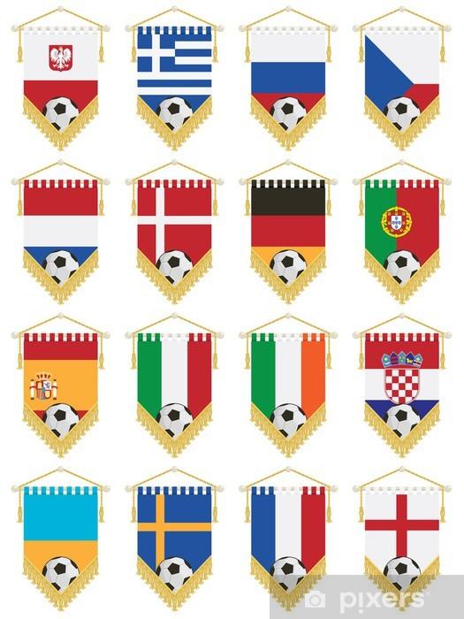 Fototapeta samoprzylepna Proporczyki flagi piłkarskie - Artykuły sportowe