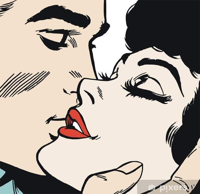 pareja de enamorados Pixerstick Sticker - Themes