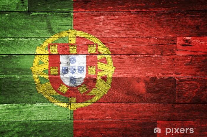 Aufkleber Portugal Flagge Auf Alten Holz Gemalt Pixers Wir