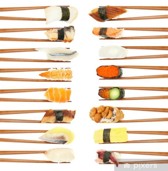 Papier peint vinyle Sushi & Baguettes - Sushi