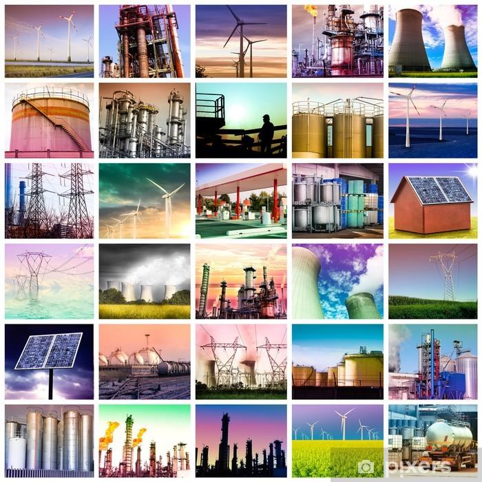 Papier peint vinyle Collage d'énergie - Bâtiments commerciaux et industriels